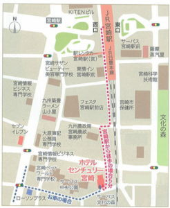 ホテルセンチュリー宮崎地図